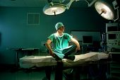young doctor in a operating room