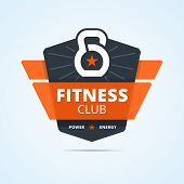 Fitness club logo. poster