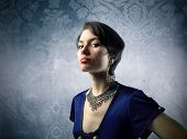 stock photo of snob  - Snobby elegant woman - JPG