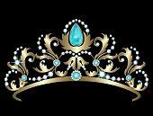 ������, ������: Tiara with diamonds and aquamarines