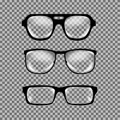 Постер, плакат: Set of custom glasses isolated