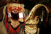 Barong character in traditional Balinese theater