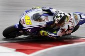 Sepang, MALAYSIA - 7 February: MotoGP rider Valentino Rossi doing a practice run at the MotoGP winte