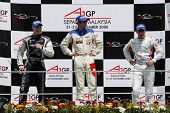Sepang, MALAYSIA - 23 November: Sprint race winners at the podium, World A1 GP championship races held in Malaysia. 23 November 2008 in Sepang International Circuit Malaysia.