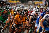 KL, MALAYSIA - 15 February: Cyclists in action at the le Tour de Langkawi race, Stage 7, KL Criteriu