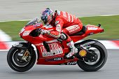 SEPANG, MALAYSIA - OCTOBER 25: Team Ducati Malboro's Nicky Hayden in  the 2009 Shell Advance Malaysi