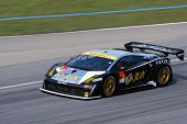 SEPANG, MALAYSIA - JUNE 21: The JLOC Lamborghini RG-3 car (87) in action during the Super GT Interna