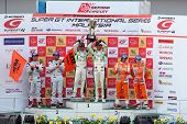 SEPANG, MALAYSIA - JUNE 21: The GT300 winners podium at the Super GT International Series Round 4 ra