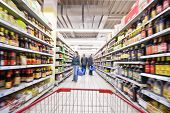 stock photo of grocery store  - Shopping at the supermarket - JPG