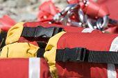 vista detalhada de resgate do Rio lançar linhas