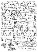 image of einstein  - math symbols and texts isolated on the white background - JPG