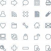 Stitched Web Icons