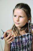 Child enjoying christian music