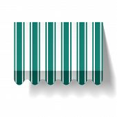picture of awning  - The vector illustration of a drop awning - JPG