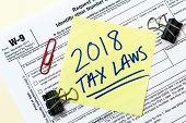 Постер, плакат: W9 2018 Tax Laws Concept