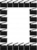 Movie Clap Board Border