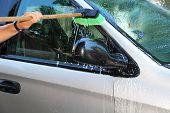 Washing A Van
