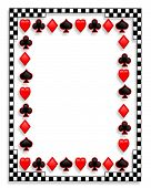 3D Playing Cards Suits Background