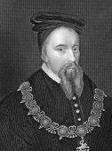 Thomas Stanley (1435-1504). Radierung von E.Finden und im Lodge des britischen Porträts Nachsch veröffentlicht