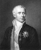 Pierre Simon Laplace (1749-1827). Engraved by J.Pofselwhite and published in The Gallery Of Portrait