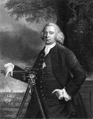 James Brindley (1716-1772). Engraved by J.T.Wedgwood and published in The Gallery Of Portraits With Memoirs encyclopedia, United Kingdom, 1833.