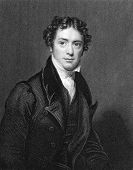 Michael Faraday (1791-1867). Engraved by J.Cochran and published in The National Portrait Gallery Of
