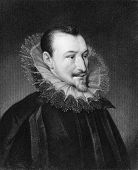 Edmund Spenser (1552-1599). Engraved by J.Thomson and published in The Gallery of Portraits encyclop