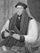 Thomas Cranmer (1489-1556). Engraved by J.Cochran and published in The Gallery Of Portraits With Mem