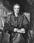 Samuel Lee (1783-1852). Engraved by W.T.Fry and published in The National Portrait Gallery Of Illustrious And Eminent Personages encyclopedia, United Kingdom, 1840.