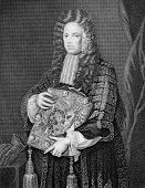 John Somers, 1st Baron Somers (1651-1716). Engraved by W.T.Mote and published in Lodge's British Por