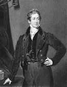 Robert Peel (1788-1850). Engraved by J.Cochran and published in The Letters of Queen Victoria 1844-1