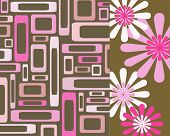 Retro Pink And Brown Collage