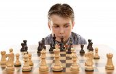 foto of boardgame  - A chess player evaluating his next move - JPG