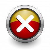 cancel red and yellow aqua button