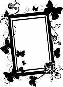 Empty Butterfly Silhouette frame