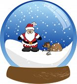 Santa Claus in a Snow Globe