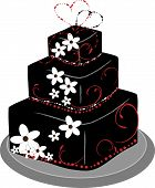 Square Layer Wedding Cake