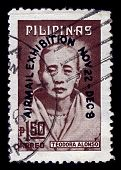 PHILIPPINES-CIRCA 1974:A stamp printed in PHILIPPINES shows image of Teodora Morales Alonzo Realonda