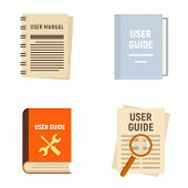 User Guide Icons Set. Flat Set Of User Guide Vector Icons For Web Design poster