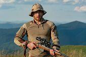 Autumn Hunting Season. Hunting Gear - Hunting Supplies And Equipment. Hunting - Men Hobby. Hunter Wi poster