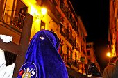 GRANADA, SPAIN - APRIL 4: Easter Procession of Cofradia of Jesus de las Tres Caidas y Nuestra Senora