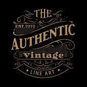 Vintage Label Western Hand Drawn Antique Frame Typography Vector Illustration poster