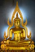 Golden Buddha Statue In The Marble Temple, Bangkok, Thailand