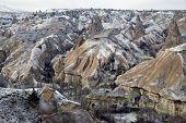 Sandstone Formations In Cappadocia, Turkey.
