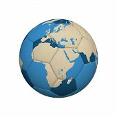 foto of png  - World Map on a Soccer Ball  - JPG