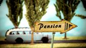 Street Sign To Pension poster
