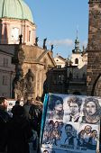 Caricature Drawing On Charles Bridge, Prague..