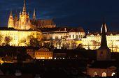 Castillo de Praga al atardecer, República Checa...