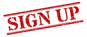 Sign Up Stamp. Sign Up Square Grunge Sign. Sign Up poster