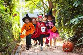 Kids Trick Or Treat. Halloween Fun For Children. poster